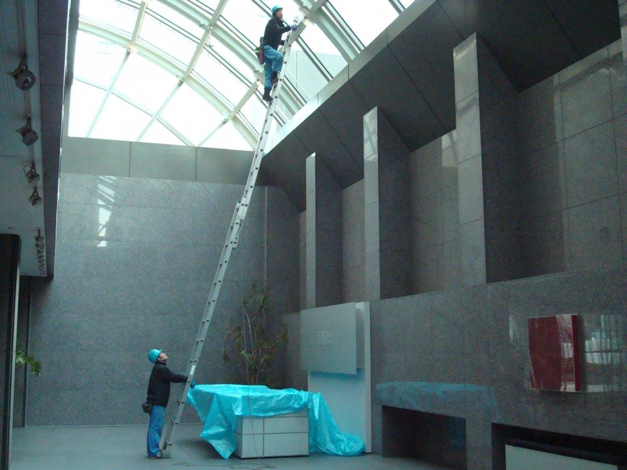 足場 高所伸縮はしご作業 1