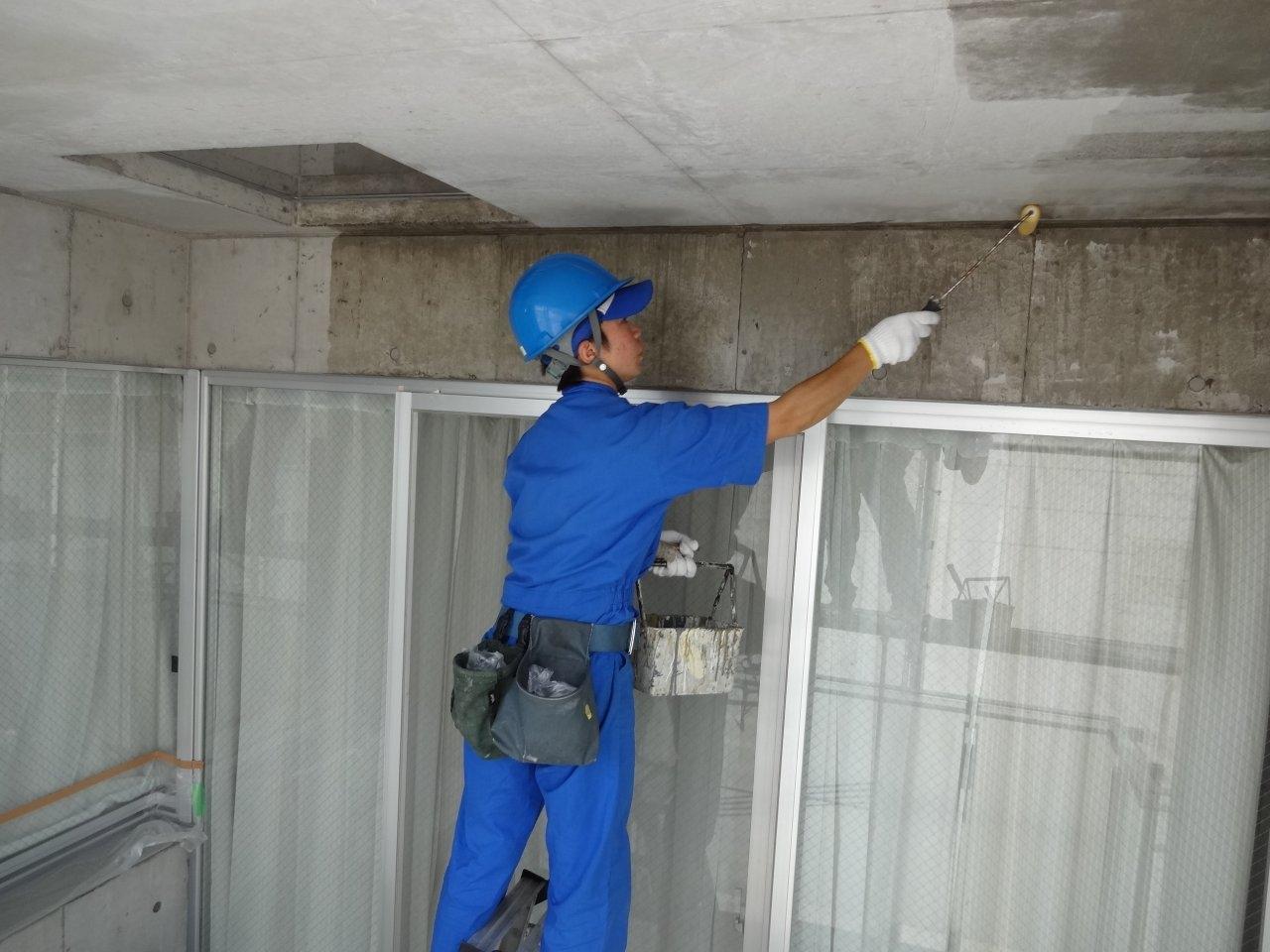 外壁保護撥水剤塗布5 バルコニー天井