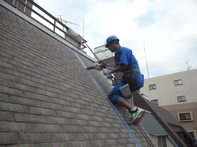 外壁傾斜面 シール補修 2