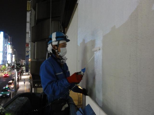 夜間作業1 塗装