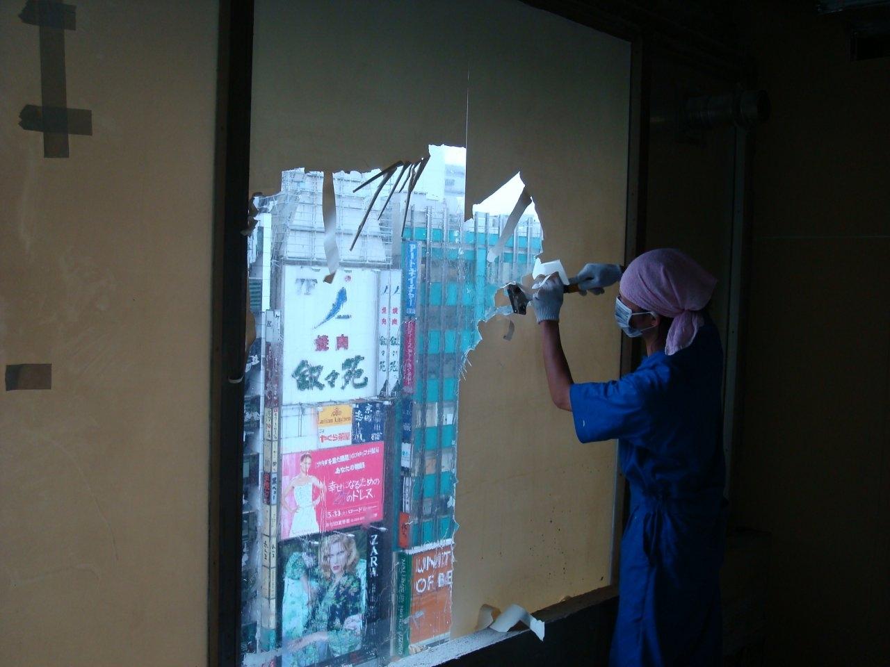 ガラスフィルム剥がし 4