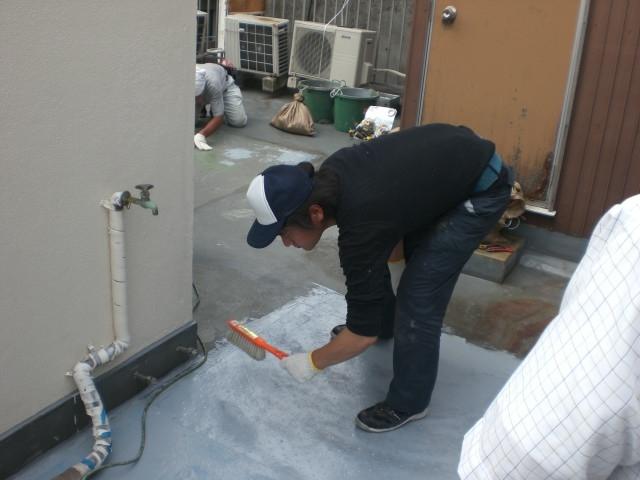 屋上防水2 プライマー塗布