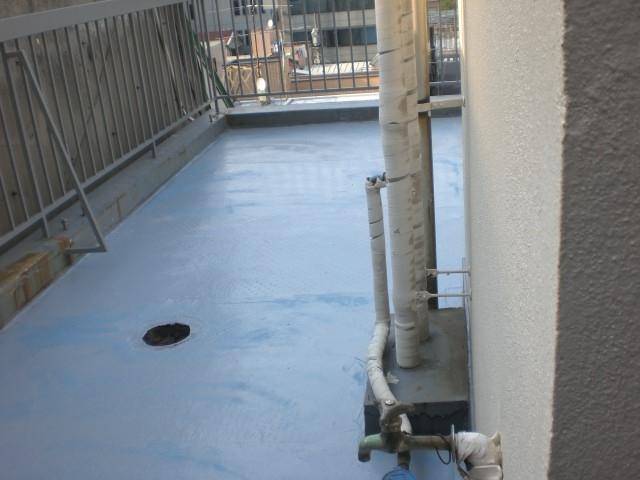 屋上防水3 プライマー塗布後