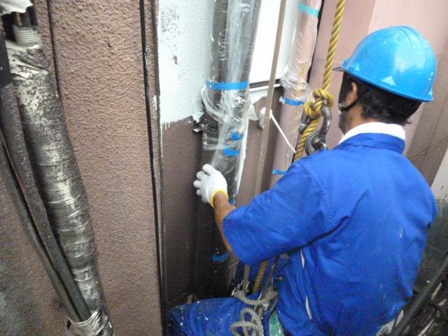 ALC外壁塗装2 プライマー塗布