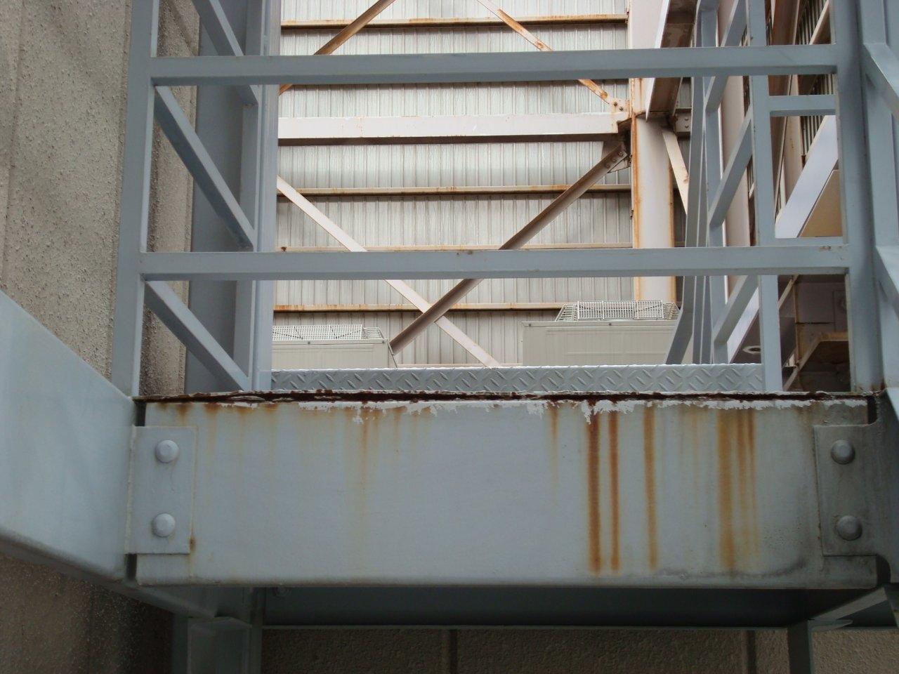 鉄部塗装7 外階段