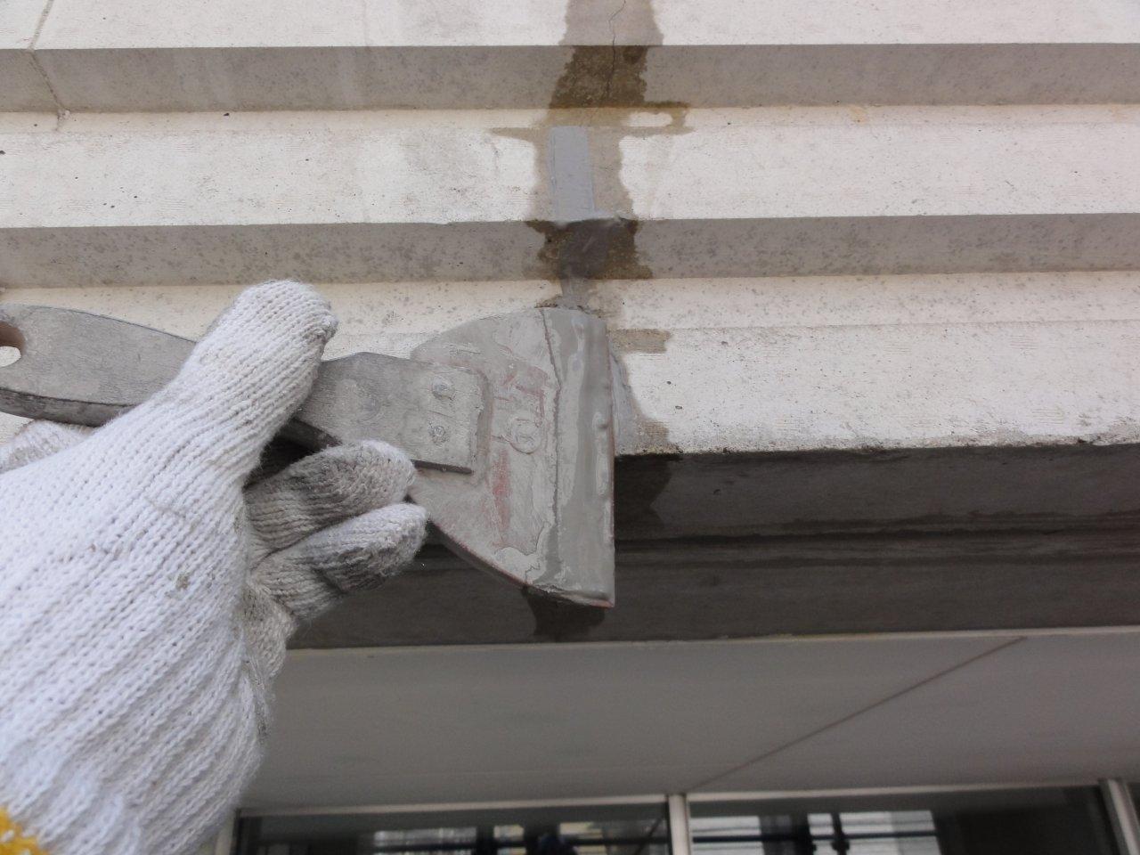 コンクリート補修4 超微粒子セメント充填